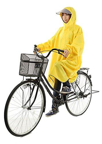 失潜在的なチャップ【AMARISE】 レインコート ポンチョ タイプ 袖つき 自転車 レインウェア 男女兼用 フリーサイズ メンズ レディース