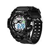 Men's Military Electronic Watch,Discountsday Multi Function Sports Watch for Boys Digital Sport Watch for Men Waterproof LED Screen Watch with Alarm