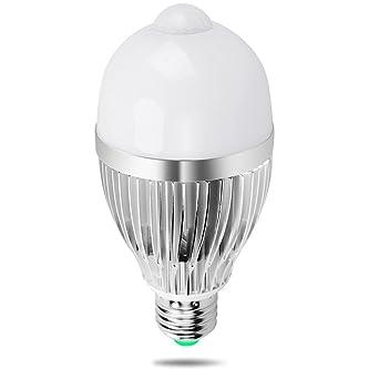 iRainy E27 9W Bombillas LED con Sensor de Movimiento, Luz Blanca Cálida