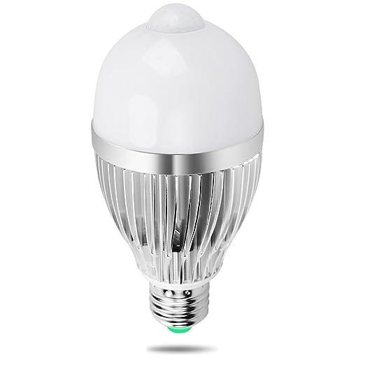 20 opinioni per Lampadina LED Sensore, iRainy E27 9W Lampadine a Risparmio Energetico con
