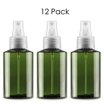 a1568e5d2ca4 Amazon.com : DLIBUY (Pack of 12) 100ML Empty Refillable Plastic ...