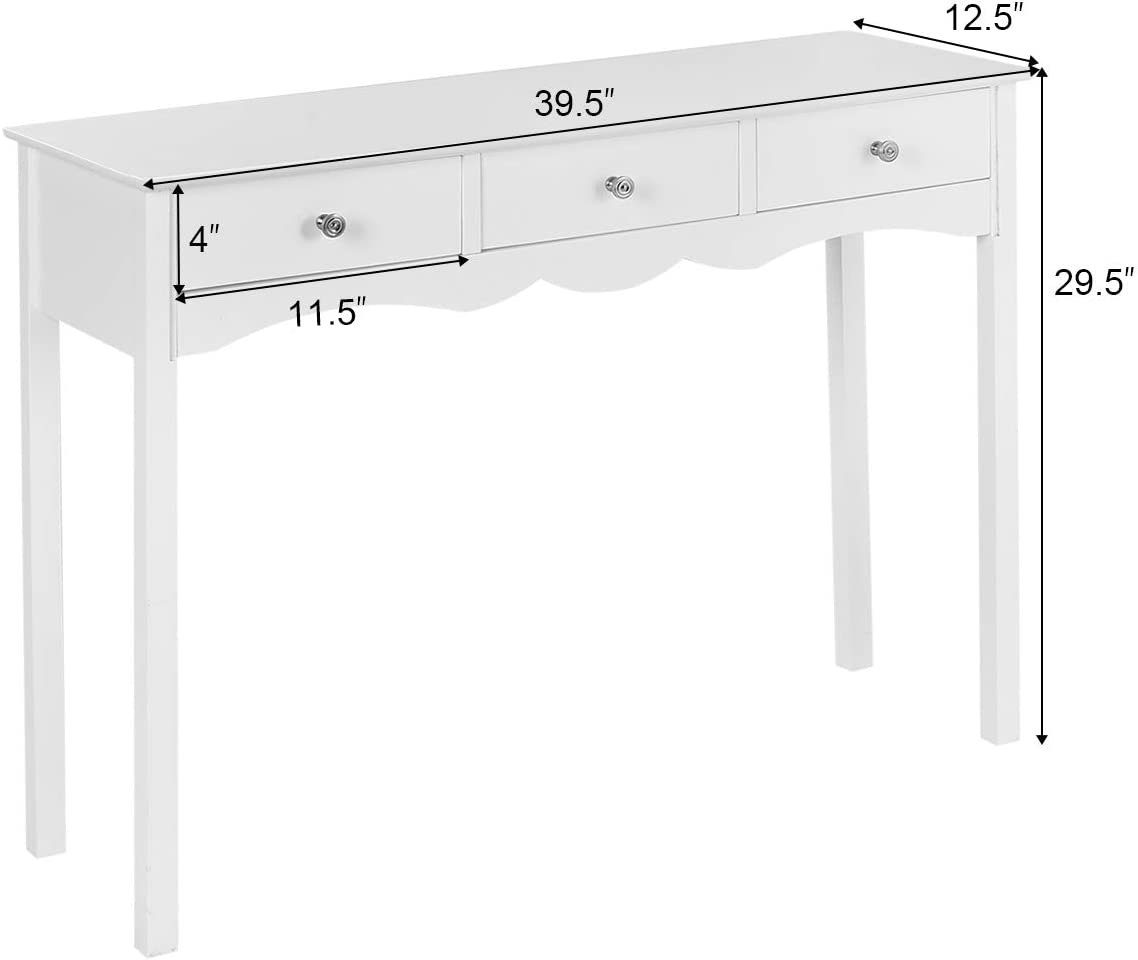 Giantex Console Table W//3 Drawers for Living Room,Bedroom,Entryway Multifunctional Usage Accent Hall Table Desk