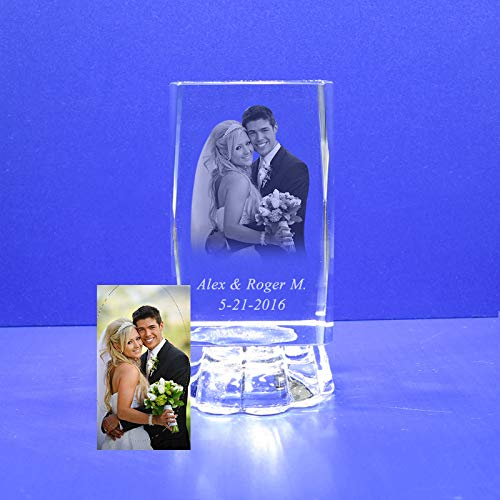 Custom Photo (12 PCS) Personalize Laser Engraving Favors Like Baptism, Wedding, First Communion, Mi Bautizo, Sweet 16, Quinceañera, Mis 15 Años, Comunión, Graduation, School & Church Events (4″H)