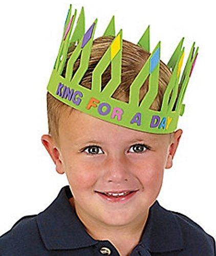 (Crown Kits with Stick-on Shapes and Letters, Dozen)