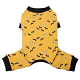 TONY HOBY Dog Pajamas Dog Jumpsuits Elk Print Four Legs Dog pjs Cotton Made Dog Clothes for Small Medium Large Dogs