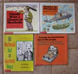 Judi Barrett Set of 4 Books (Cloudy With a Chance of Meatballs ~ Pickles to Pittsburgh ~ Animals Should Definitely Not Act Like People ~ Old MacDonald Had An Apartment House)