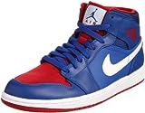 Nike Men's NIKE AIR JORDAN 1 MID BASKETBALL SHOES 9 Men US (GAME ROYAL/GM ROYAL/GYM RED/WHITE) thumbnail