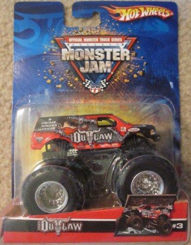 2006 Hot Wheels Monster Jam Iron Outlaw Red/Black #3 Metal Base