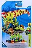 Hot Wheels 2019 Dino Riders Motosaurus (Dinosaur Car) 63/250, Blue and Neon Green