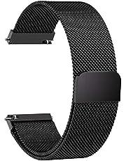 Fullmosa 6 Colores para Correa de Reloj, Milanese Piel Correa Huawei Samsung Correa/Banda/Band/Pulsera/Strap de Recambio/Reemplazo 14mm 16mm 18mm 20mm 22mm 24mm