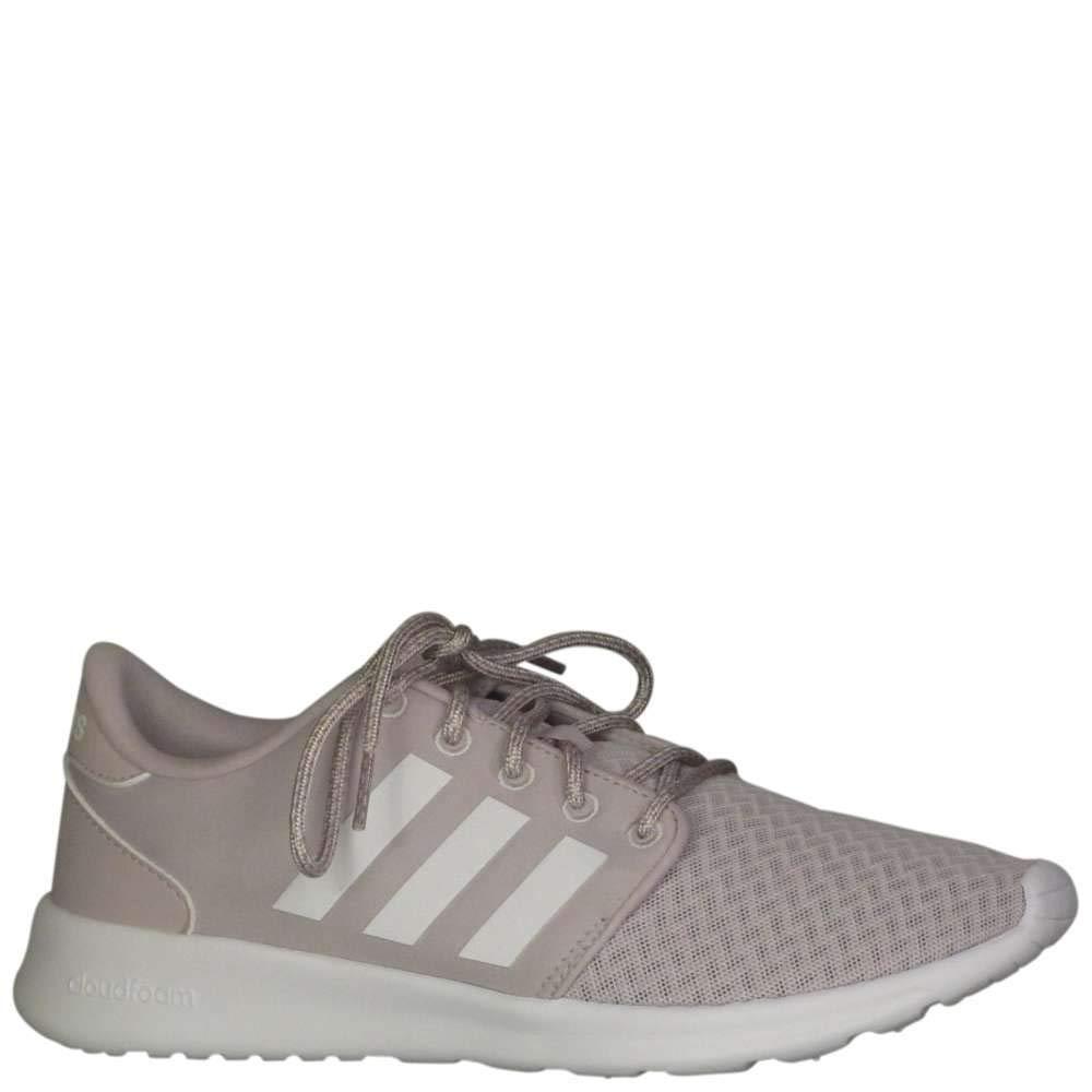 adidas Cloudfoam QT Racer Shoe - Women's Running 10 Ice Purple/White/Light Granite