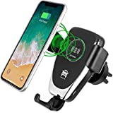 Wireless Charger Car, Fast Wireless Charger Mount for IPhone X, 8/8 Plus, Samsung Galaxy S9 / S9 Plus / S8 / S8 Plus / S7/ S7 edge / S6 Edge Plus,Note 8 (Black)