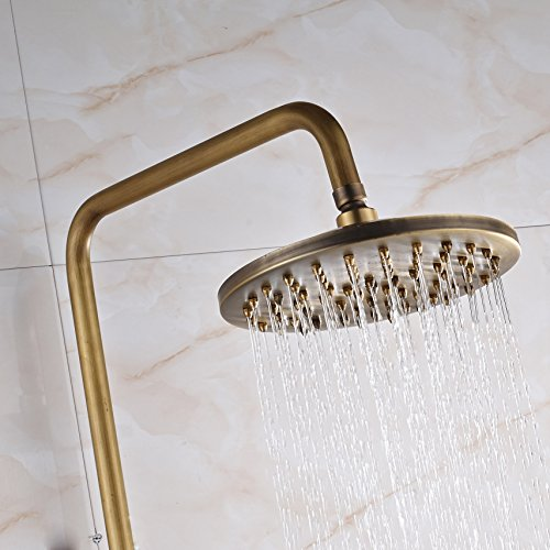 Rozin Bathroom 2 Knobs Mixer Rainfall Shower Faucet Units with Hand Spray Antique Brass by Rozin (Image #6)