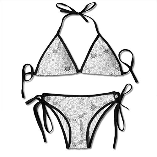 Kooky Floral to Colour Ladies Women Girl Summer Dress Beach Outfit Set Bikini Two-Piece Swimsuit Merchandise Adult Costume Print Cupshe Female Bathing Suit Apparel Attire Black