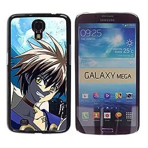 EJOY---Cubierta de la caja de protección la piel dura para el / Samsung Galaxy Mega 6.3 / --Punk japonesa de dibujos animados