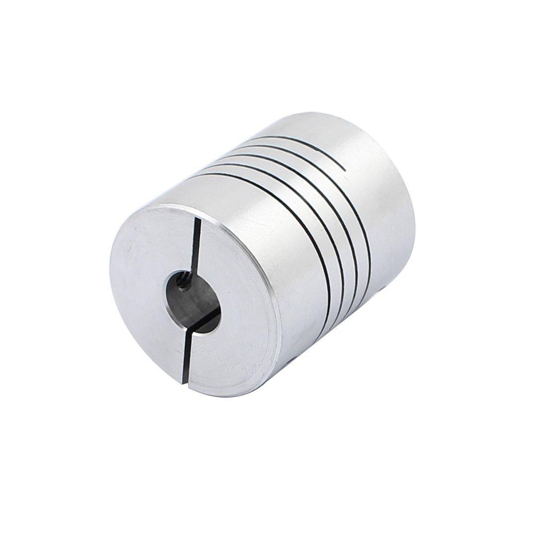 uxcell 6mm to 12mm Shaft Coupling 30mm Length 25mm Diameter Stepper Motor Coupler Aluminum Alloy Joint Connector for 3D Printer CNC Machine DIY Encoder