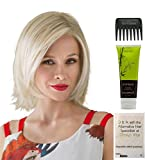 Bundle – 4 Items: United Wig By Ellen WIlle, Christy's Wigs Q & A Booklet, BeautiMark Synthetic Shampoo & Wide Tooth Comb – Color: mocca rooted