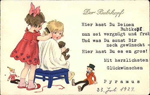 - Der Bubikopf Barbers Original Vintage Postcard