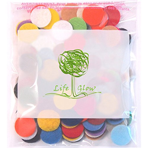 Life Glow 300 Pcs Polyester Felt Fabric Circle Round Felt Pads 1 inch Mixed Color Assortments for DIY Crafts Hair Accessories DIY Bags Decorations Felt Flowers