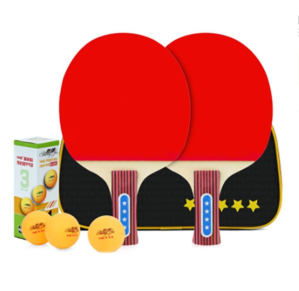 X&M Ping Pong Paddel Set - 2 Schlä ger 3 Kugeln Professional Tabelle Freizeit Tischtennis Bundle | Schlä ger-Bundle Fü r Die Familie Zu Hause Spielen Table tennis shop