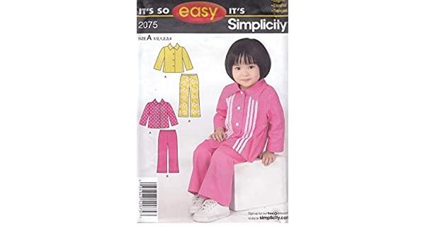 Amazon.com: 2075 Its so easy Its simplicity Size A 1/2,1,2,3,4 english,spanish, frances: Arts, Crafts & Sewing