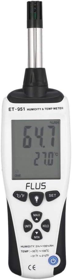Gauges Handheld Temperature Meter ET-951 Handheld Digital Humidity Tester LCD Display Multifunction Hygrometer High Accuracy EODUDO