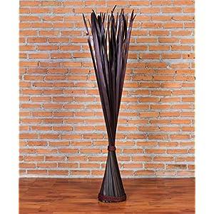 Leewadee Decorative freestanding Dried Bunch, 47 inches, Palm Leaf, Black 63