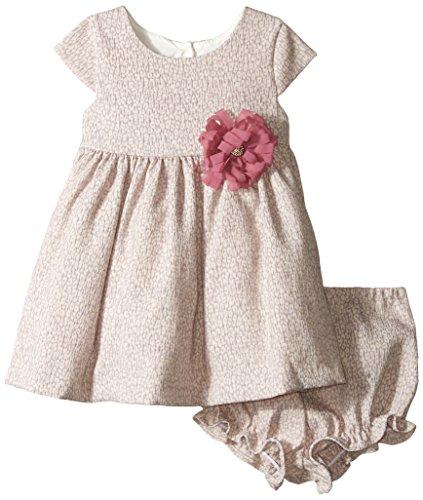 [Pippa & Julie Baby Girls' Animal Print Jacquard Dress, Grey, 12 Months] (Baby Animal Dresses)