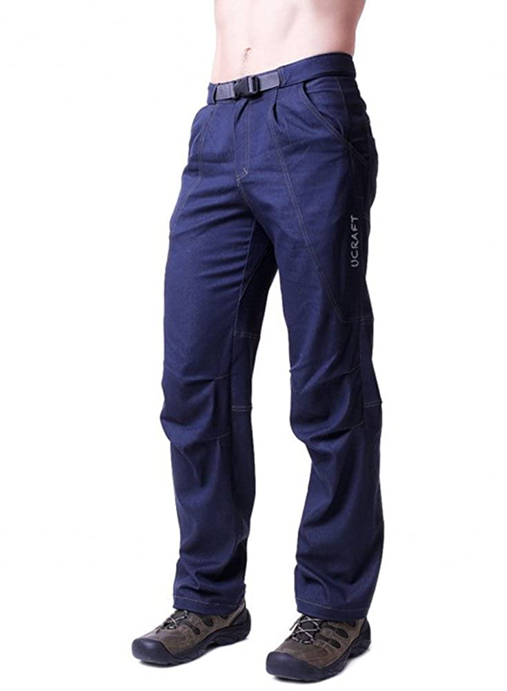 Ucraft Boulderman Men's Rock Climbing Pants. Anatomic, Stretching, Quick Drying. Quick Drying. (L Dark blue) Ucraft climbing