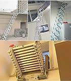 Z6 Aluminum attic Ladder Invisible Folding