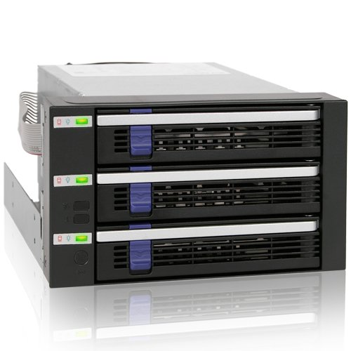 - ICY DOCK FatCage MB153SP-B 3 x 3.5 Inch HDD in 2 x 5.25 Inch Bay Hot Swap SATA 6Gbps HDD Rack/ Cage/ Module