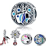 WOSTU Summer Vacation Charms Beads 925 Sterling Silver Ocean World Charms for Bracelet Necklace
