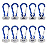 Pack of 10 UCONTRO Strong 35 Lbs Magnetic Carabiner