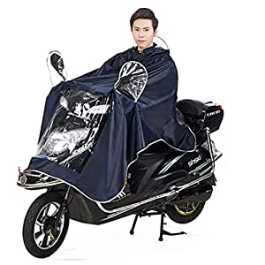 Chubasquero impermeable con gran capucha para Moto/ bicicleta. Poncho. Impermeable de lluvia. Raincoat. Capa de buena calidad para lluvia. Rainwear. Exterior. Unisex para hombre y mujer