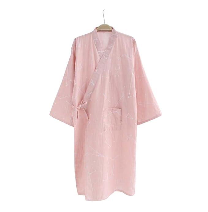 e3f24db56c Camicia da notte da donna Kimono Set da pigiama per vestaglia e pantalone /  Accappatoio (
