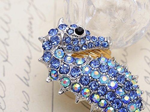 Alilang Aurora Borealis Crystal Rhinestone Seahorse Fashion Brooch Pin Pendant