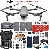 DJI Mavic 2 PRO Drone Quadcopter Fly More Combo with 3 Batteries, 128GB SD Card with Hasselblad Camera HDR Video Adjustable Aperture Bundle Kit with Must Have Accessories with Extra Hard Carrying Case