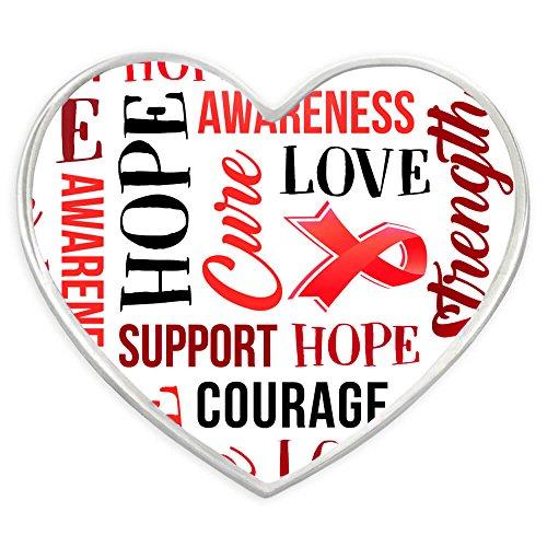 discount PinMart Red Heart w/Words Heart Disease Awareness Hope Enamel Lapel Pin supplies