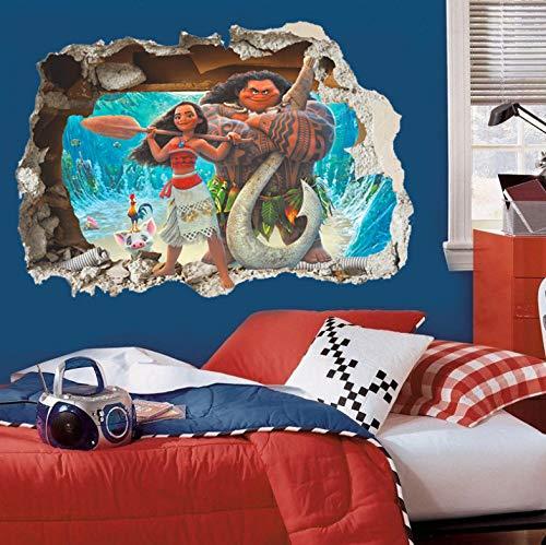 Diy 3D Efecto Moana a través de las pegatinas de pared para ...