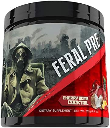 Apocalypse Labz Feral Pre Pre-Workout Powder Supplement - Boosts Energy Focus, Reduces Muscle Fatigue - Creatine, Beta-Alanine, Betaine, Agmatine Sulfate, Caffeine, Taurine - Cherry Bomb Cocktail