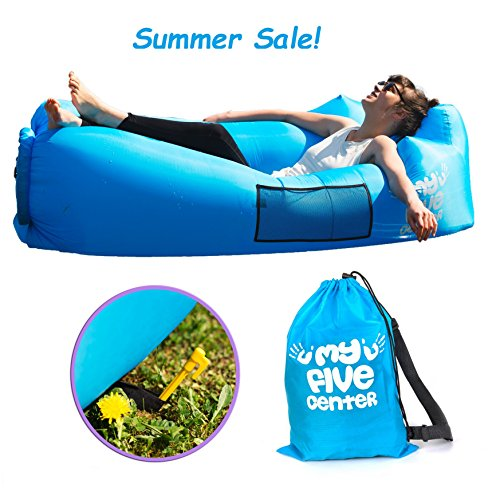 Inflatable Portable Lounger Air Sofa Hammock – Blow - up Lounge Chair With Carry Bag - Lazy Hangout Couch for Backyard Lakeside Beach Travelling Camping Picnics Hiking Fishing Music Festivals & Gift
