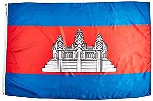 Annin Flagmakers 191198 Nylon SolarGuard Nyl-Glo Cambodia Flag, 4 x 6'