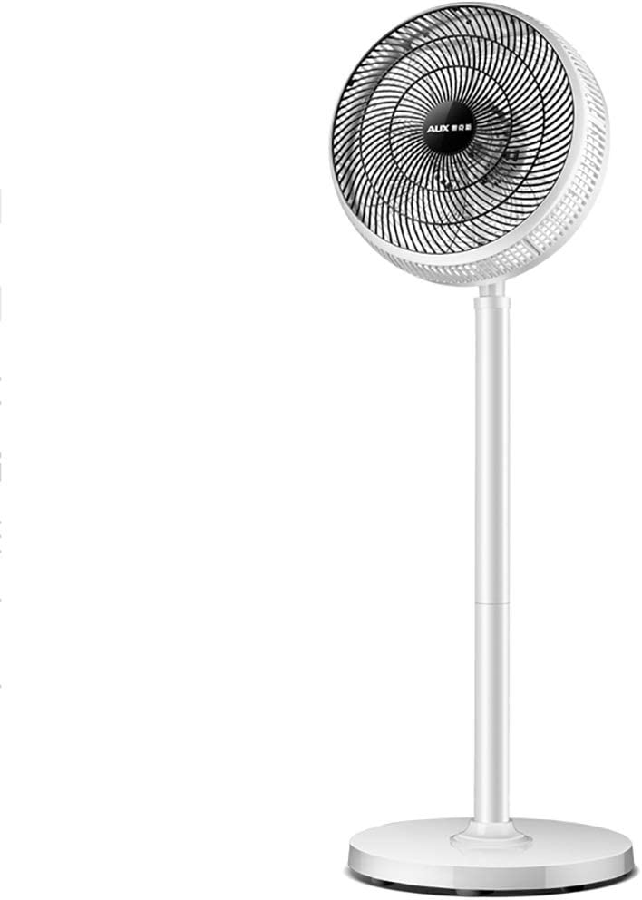 Ventilador de pie blanco, ventilador de pedestal con control remoto, 3 configuraciones de velocidad, altura ajustable de 20 pulgadas a 43 pulgadas, ventilador de piso de pie silencioso y oscilante Fác