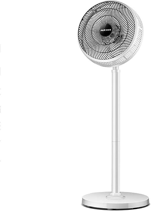 Ventilador de pie blanco, ventilador de pedestal con control remoto, 3 configuraciones de velocidad, altura ajustable de 20 pulgadas a 43 pulgadas, ventilador de piso de pie silencioso y oscilante Fác: Amazon.es: Hogar