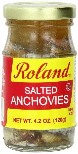 (Roland Foods Anchovies, Salted, 4.2 Ounce (Pack of 6))