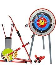 YRE Arco de Seguridad para niños y Flechas Dardos de la succión de Padres y niños Juguetes de Tiro. Equipo Deportivo al Aire Libre simulación Tiro con Arco y Flecha Conjunto