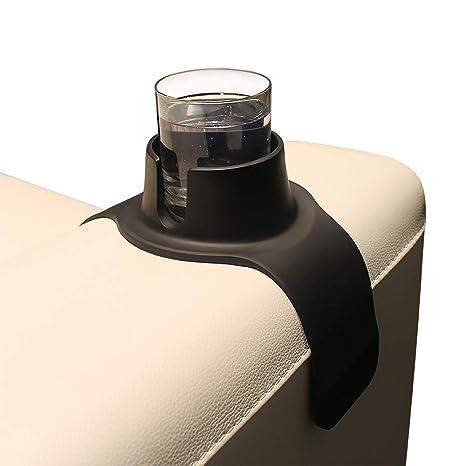 CouchCoaster, Posavasos de bebidas para sofá, Negro Azabache, 420mm x 147mm x 60mm