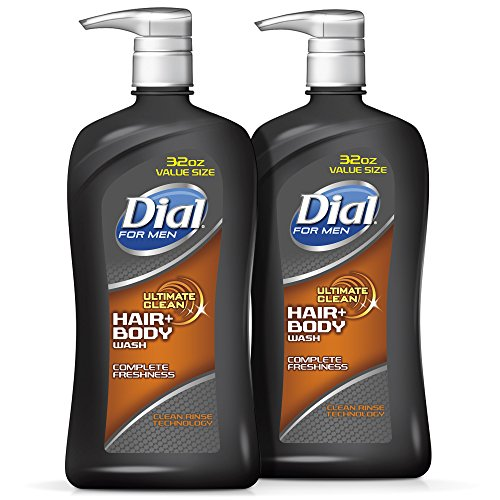 Dial for Men Hair and Body Wash, Ultimate Clean, 32 Ounces (Pack of (Hair Body Wash Gel)