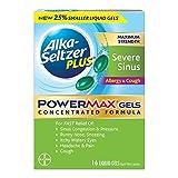 Alka-Seltzer Plus Maximum Strength Powermax Liquid Gels, Severe Sinus, Allergy & Cough, 16 Count