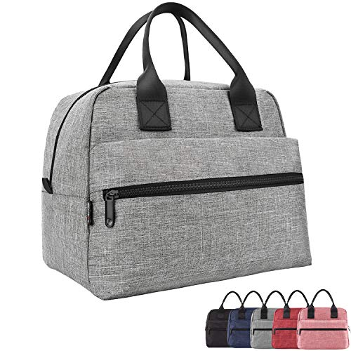 Lunch Bags For Women&Men Insulated Lunch Box For Lunch Cooler Tote(Grey)